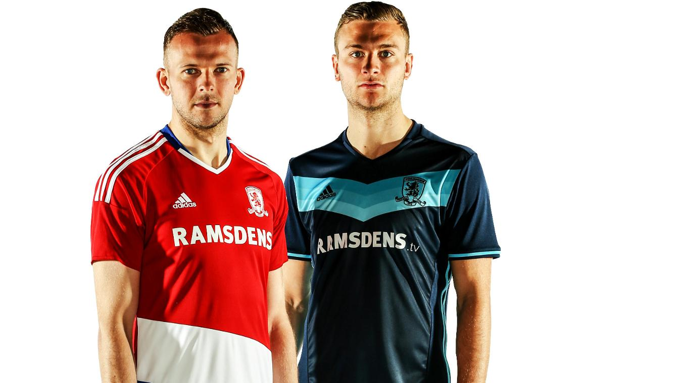 Middlesbrough home and away kits