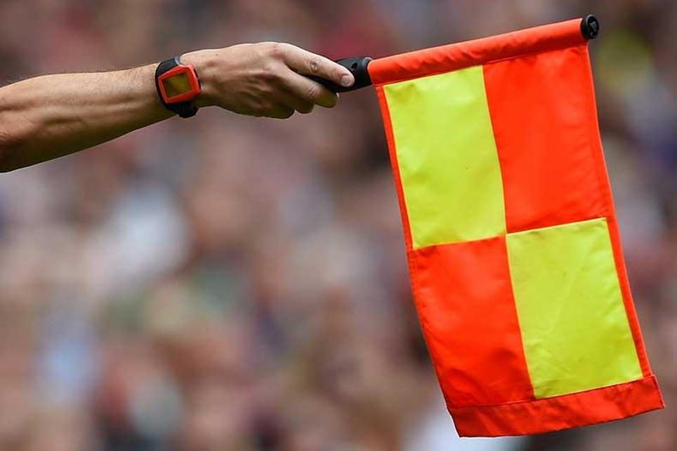 An assistant referee's flag