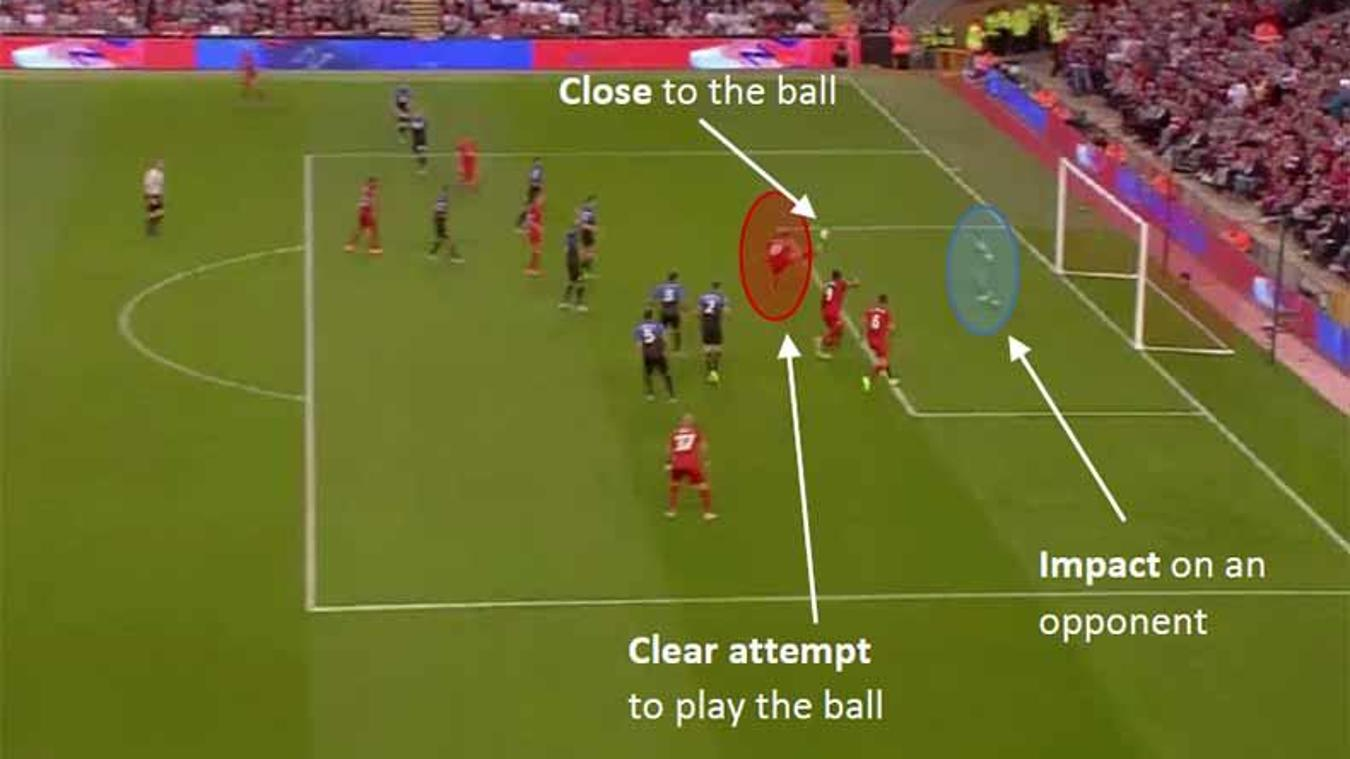 Figure 2 - Offside Offence by Red10