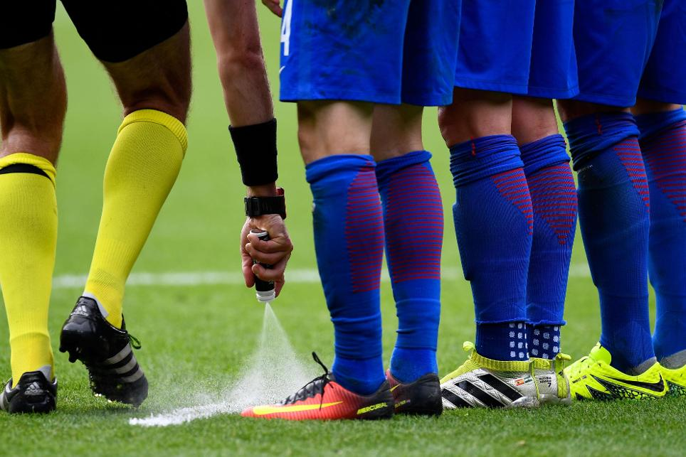 Vanishing Spray was a success in the 2014 FIFA World Cup