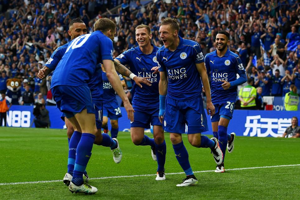 Jamie Vardy scores as Leicester celebrate 2015/16 title with win over Everton