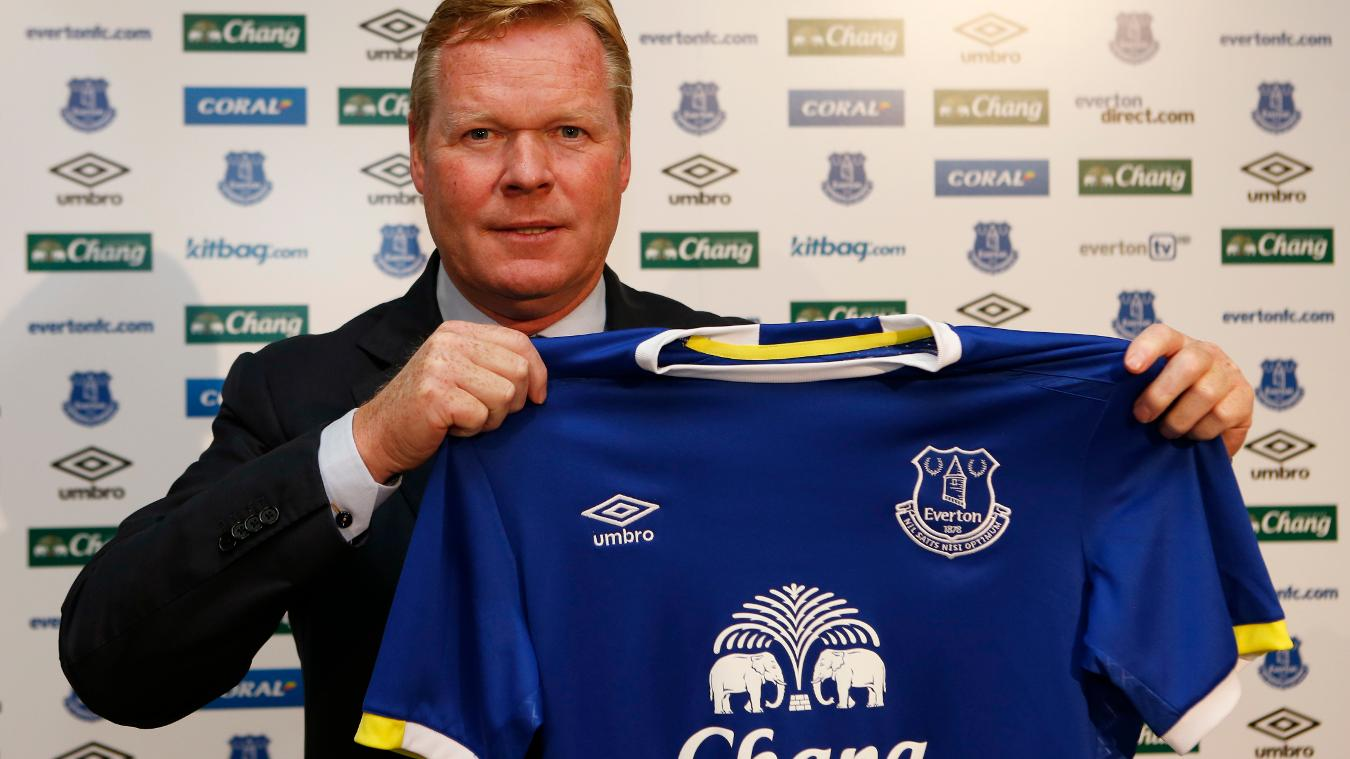 Everton appointed Ronald Koeman as manager in June