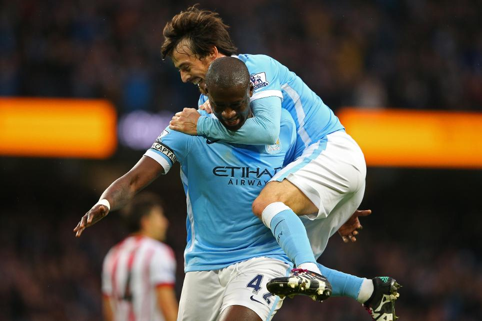 Yaya Toure and David Silva are among the Man City players in their thirties